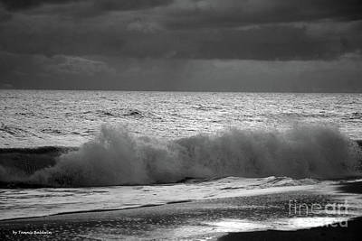Photograph - Incoming Tide Bw by Tannis Baldwin