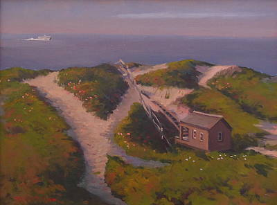Painting - Incoming To Steps Beach by Dianne Panarelli Miller