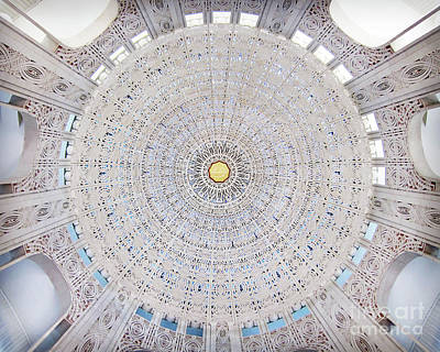 Photograph - Incredible Ceiling Of Bahai Temple by Martin Konopacki