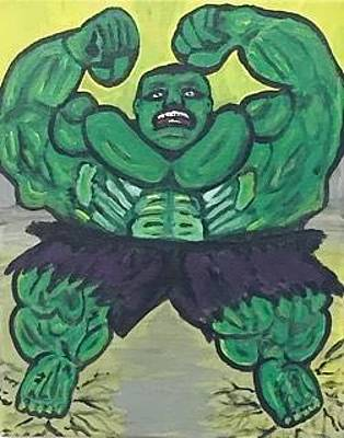 Incredible Hulk  Original by Jonathon Hansen