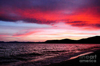 Photograph - Incredible Sunset Tahoe by Haleh Mahbod