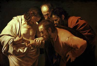 Painting - Incredulity Of Saint Thomas by Michelangelo Caravaggio