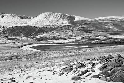 Photograph - Independence Pass Landscape Black And White by Dan Sproul