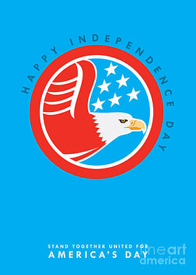 Id4 Digital Art - Independence Day Greeting Card-american Bald Eagle  by Aloysius Patrimonio