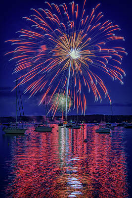 Independence Day In Boothbay Harbor Art Print