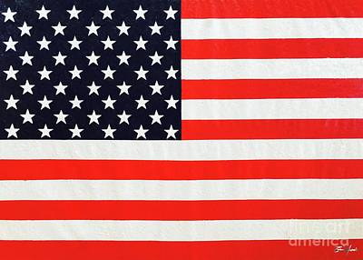 Painting - Independence Day Large Scale Oil On Canvas Original Landscape American Flag United States Flag by Tim Hovde