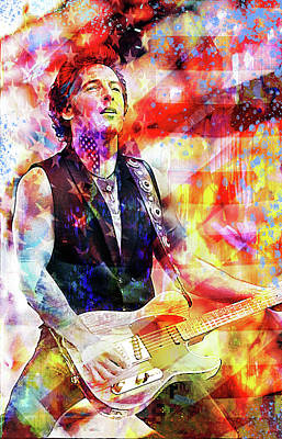 Bruce Springsteen Digital Art - Independence Day by Mal Bray