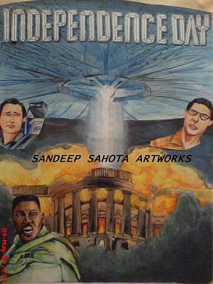 Alfred George Stevens Painting - Independence Day by Sandeep Kumar Sahota