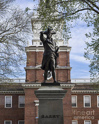 Independence Hall And Commodore Barry Art Print by John Greim