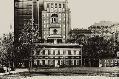 Philadelphia History Digital Art - Independence Hall by Bill Cannon