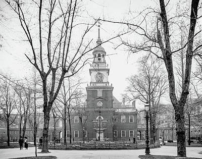 Independence Hall Circa 1905 Print by Bill Cannon