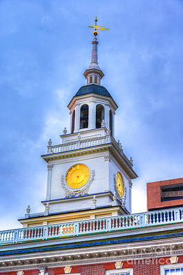 Photograph - Independence Hall Clock Tower by David Zanzinger