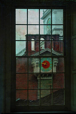 Philadelphia History Digital Art - Independence Hall Through Congressional Window by Jeff Burgess