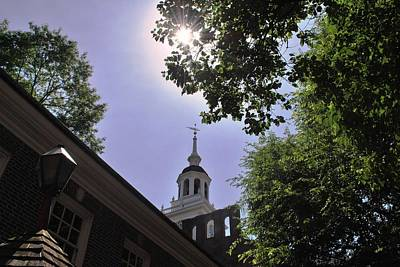 Photograph - Independence Hall Trees View by Matt Harang