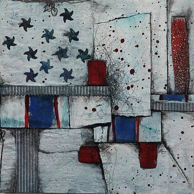 Splatter Mixed Media - Independence by Laura Lein-Svencner