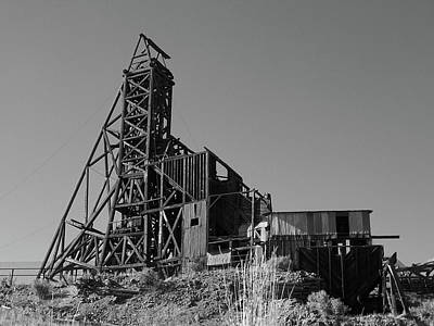 Photograph - Independence Mine - Bw by Tony Baca