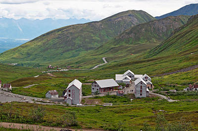 Photograph - Independence Mine Historical Site Buildings by Cathy Mahnke