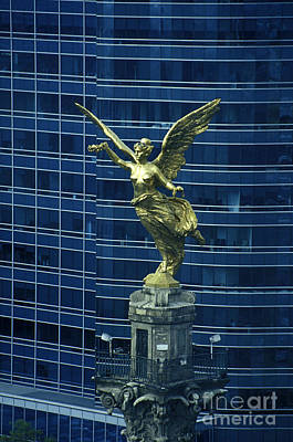 Photograph - Independence Monument Angel Mexico City by John  Mitchell