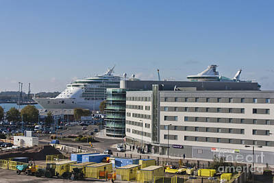 Photograph - Independence Of The Seas In Southampton by Terri Waters