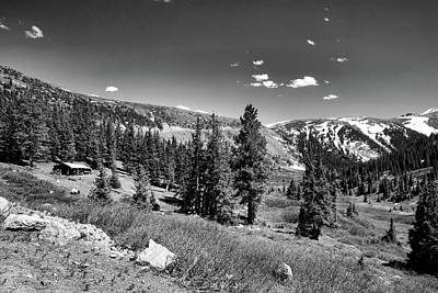 Photograph - Independence Pass Black And White by Judy Vincent