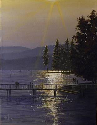 Painting - Independence Point, Lake Coeur D'alene by Paul K Hill
