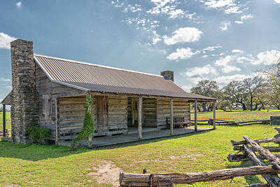 Photograph - Independence Texas Cabin by Victor Culpepper