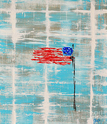 4th Of July Painting - Independence With Clouds by Alys Caviness-Gober