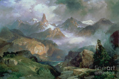 Mountain Painting - Index Peak by Thomas Moran