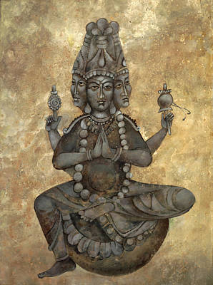 Installation Art Painting - India Buddha by Mary jane Miller