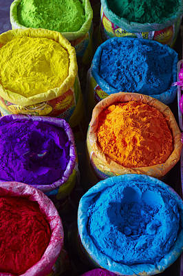 India, Holi Festival, Color And Spring Festival Art Print by Bruno Morandi