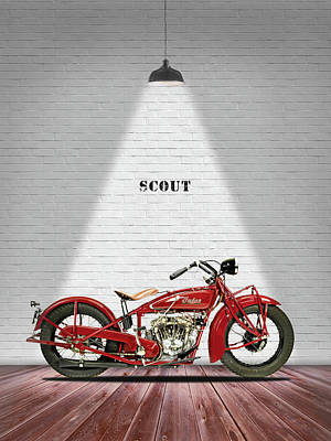 Indian 101 Scout 1929 Art Print by Mark Rogan