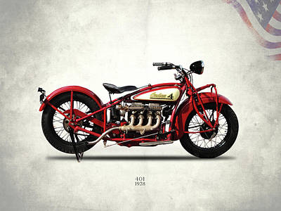 Photograph - Indian 401 1928 by Mark Rogan