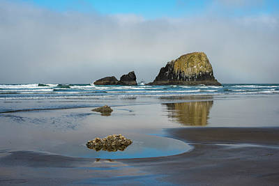 Photograph - Indian Beach Reflections by Robert Potts
