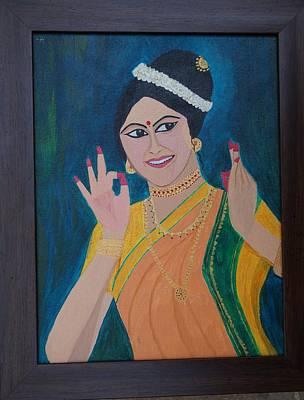 Shweta Singh Painting - Indian Beauty by Shweta Singh