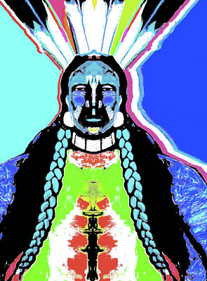 Indian Blue By Nixo Print by Nicholas Nixo