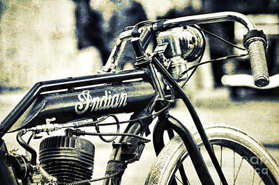 Photograph - Indian Board Track Racer by Tim Gainey