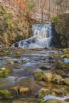 Photograph - Indian Brook Falls  With April Snow by Angelo Marcialis
