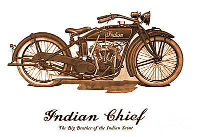 Digital Art - Indian Chief 1923 by Steven Parker