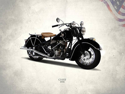 Motorcycle Wall Art - Photograph - Indian Chief 1946 by Mark Rogan