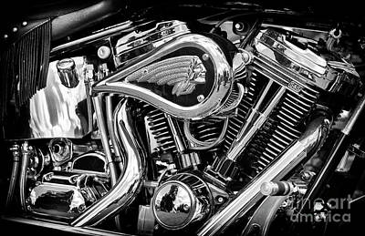 2001 Photograph - Indian Chief Centennial Monochrome by Tim Gainey