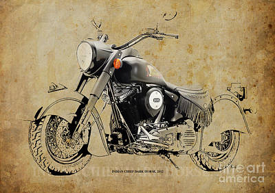 Race Horse Mixed Media - Indian Chief Dark Horse 2012 by Pablo Franchi