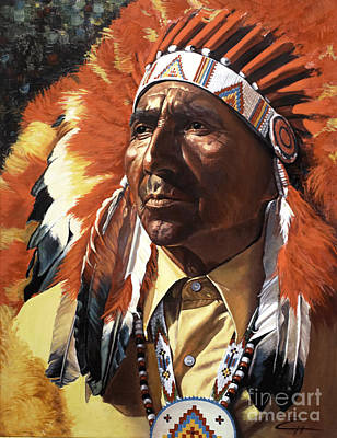 Painting - Indian Chief by Ekaterina Stoyanova