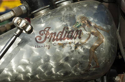 Harley Davidson Photograph - Indian Chopper Gas Tank by Jill Reger