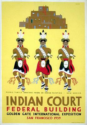 Royalty-Free and Rights-Managed Images - Indian Court - Golden Gate International Exposition, San Francisco - Vintage Poster by Studio Grafiikka