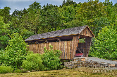 Photograph - Indian Creek Covered Bridge by Kerri Farley