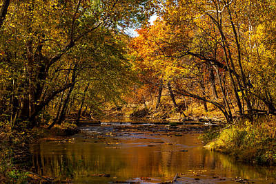 Photograph - Indian Creek In Fall Color by Jeff Phillippi