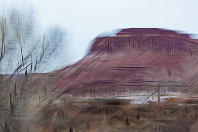 Indian Creek Winter Art Print