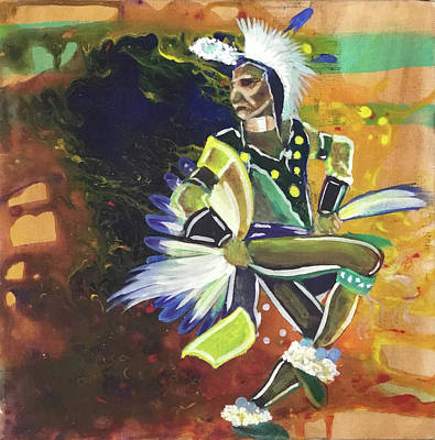 Painting - Indian dancer by Danny Frost