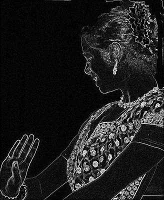 Indian Dancer  Art Print