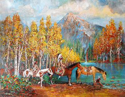 Lynn Burton Painting - Indian Falls by Lynn Burton